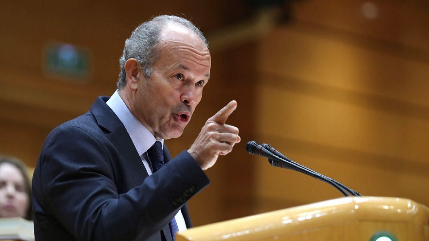 El ministro de Justicia, Juan Carlos Campo . EFE/Kiko Huesca/Archivo